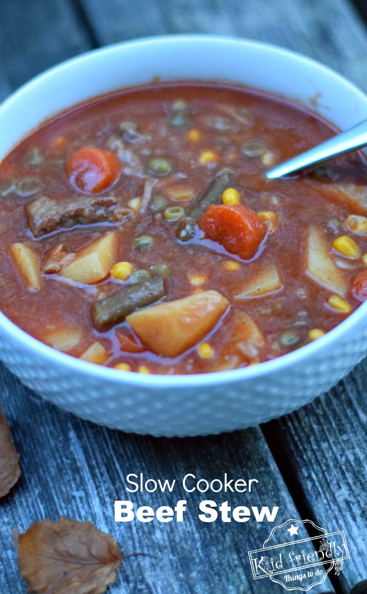 The Best Crockpot Beef Stew Recipe - Old Recipe - Easy to Make - The perfect comfort food - Healthy and Simple to make and so delicious. www.kidfriendlythingstodo.com