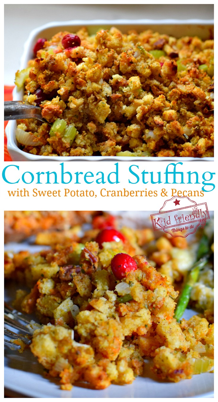Cornbread Stuffing Recipe for Thanksgiving with Cranberries