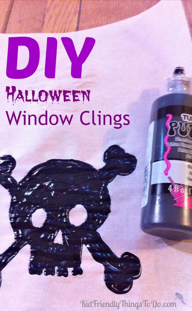DIY window clings! This is so much fun, and so easy to do. It really works! Just peel, and stick to mirrors, and windows. KidFriendlyThingsToDo.com
