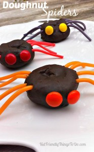 Halloween Spider Doughnuts Fun & Easy to Make Treat