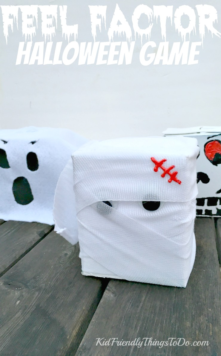 A fun Halloween Game for kids! Feel Factor is just like Fear Factor, but all about reaching into a box to feel and guess! Creepy, and Fun! Makes a great craft, too! KidFriendlyThingsToDo.com