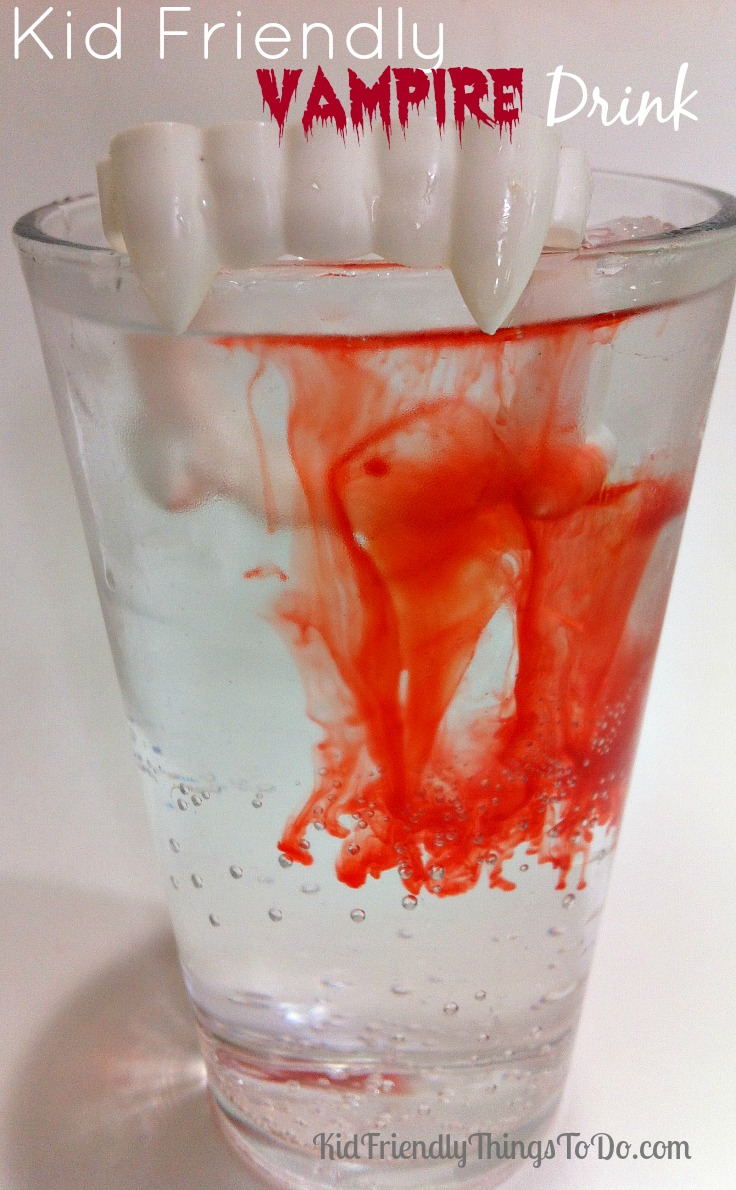 2 Ingredient Kid Friendly Vampire Drink for Halloween