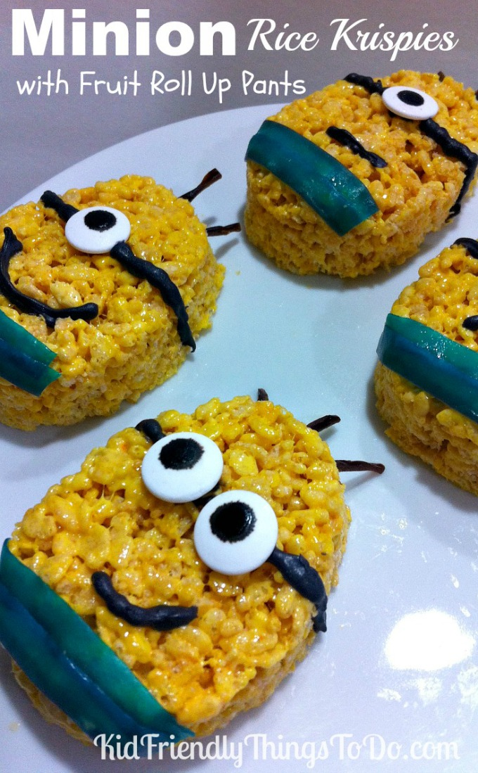 Minion Rice Krispies Treats - KidFriendlyThingsToDo.com