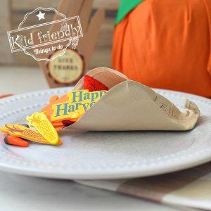 paper plate cornucopia craft