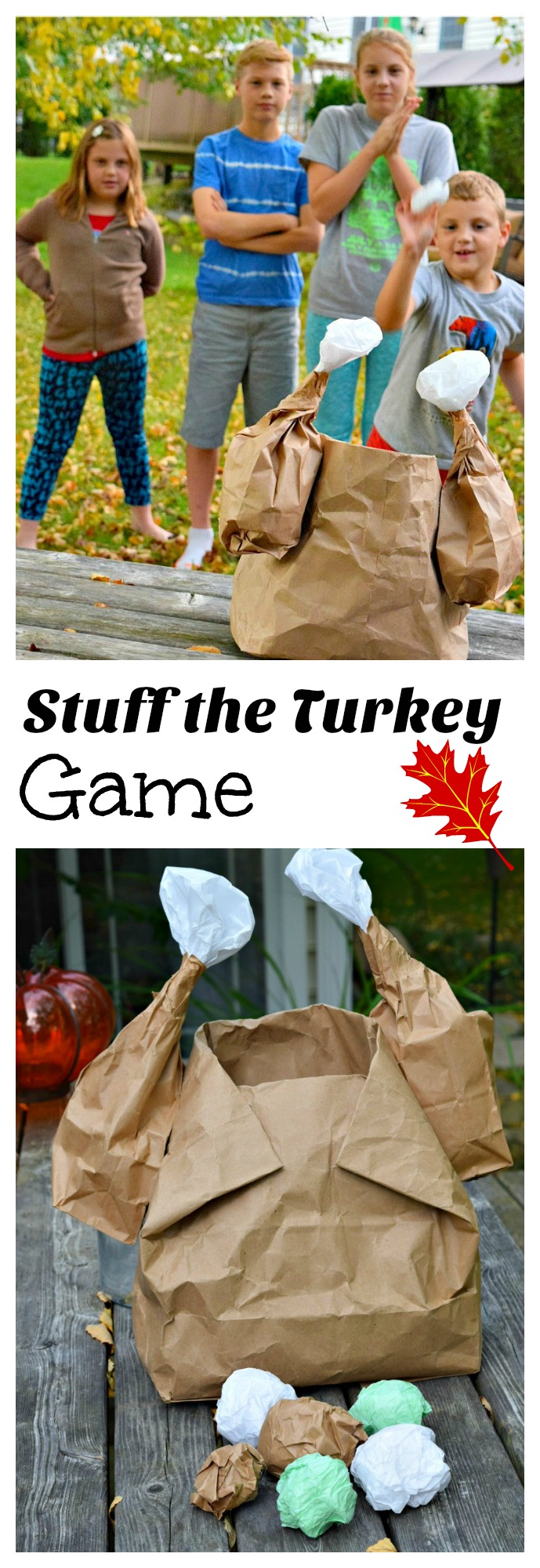 It's a fun Stuff the Turkey Game for a fun Thanksgiving Game - Perfect for preschool or elementary school. The kids love it, and it's easy to make! www.kidfriendlythingstodo.com