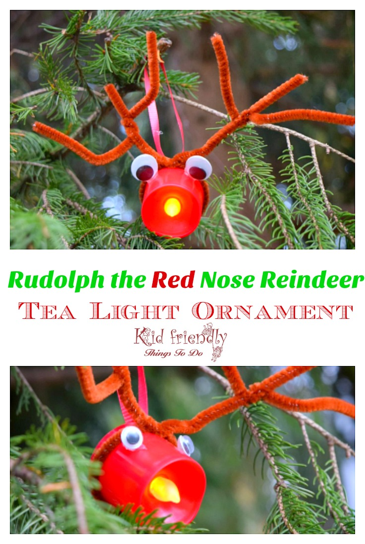Easy Rudolph Christmas Ornament Craft
