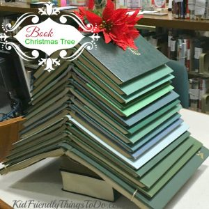 Make A Christmas Tree From Books