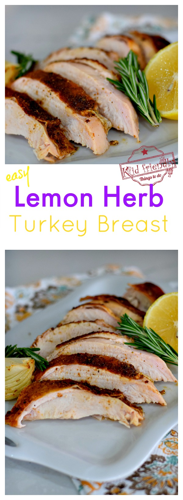 Turkey breast in oven display