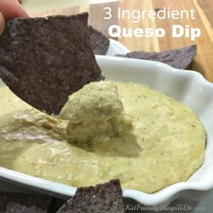 Three Ingredient White Queso Dip Recipe