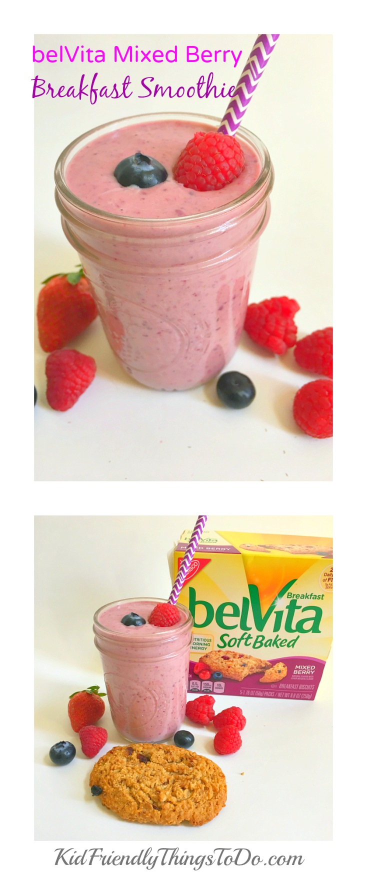 absolutely delicious Breakfast Smoothies all made with belVita ...