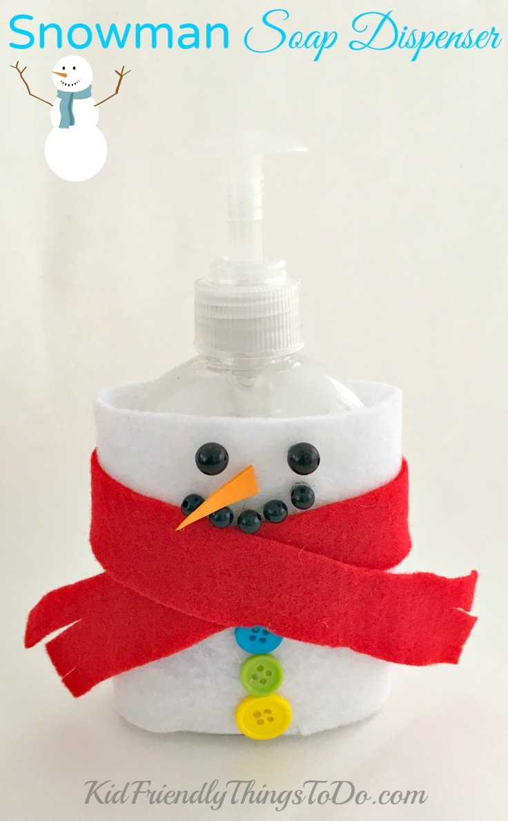 DIY Snowman Soap Dispenser Craft