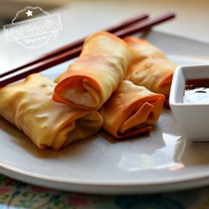 easy baked chicken and shrimp egg rolls