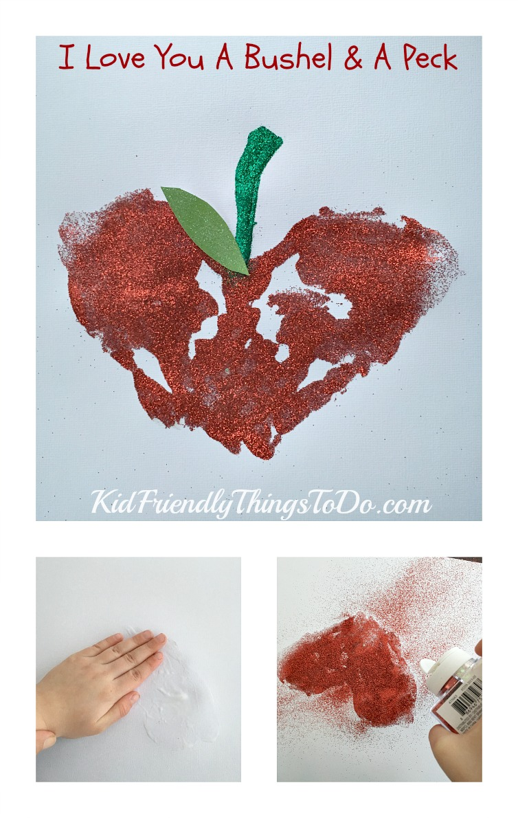 I Love You A Bushel & A Peck Sentimental Handprint Craft - KidFriendlyThingsToDo.com