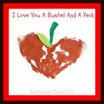 Apple Handprint craft for back to school, Valentine's Day, Mother's Day and Fall Fun with kids! - KidFriendlyThingsToDo.com