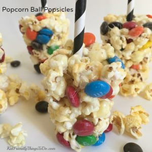 Make It A Movie Night With An M&M Popcorn Ball Popsicle Recipe