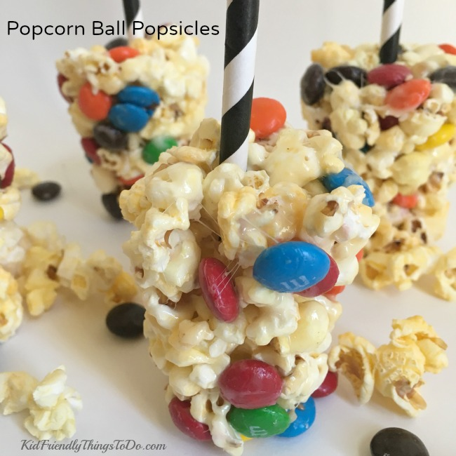 Make It A Movie Night With An M&M Popcorn Ball Popsicle Recipe - Kid ...