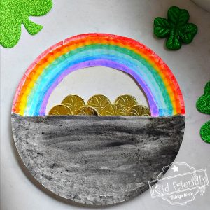 A Simple Paper Plate Pot of Gold Craft | Kid Friendly Things To Do