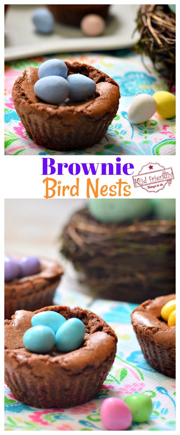 Brownie Bird Nests for a spring or Easter treat