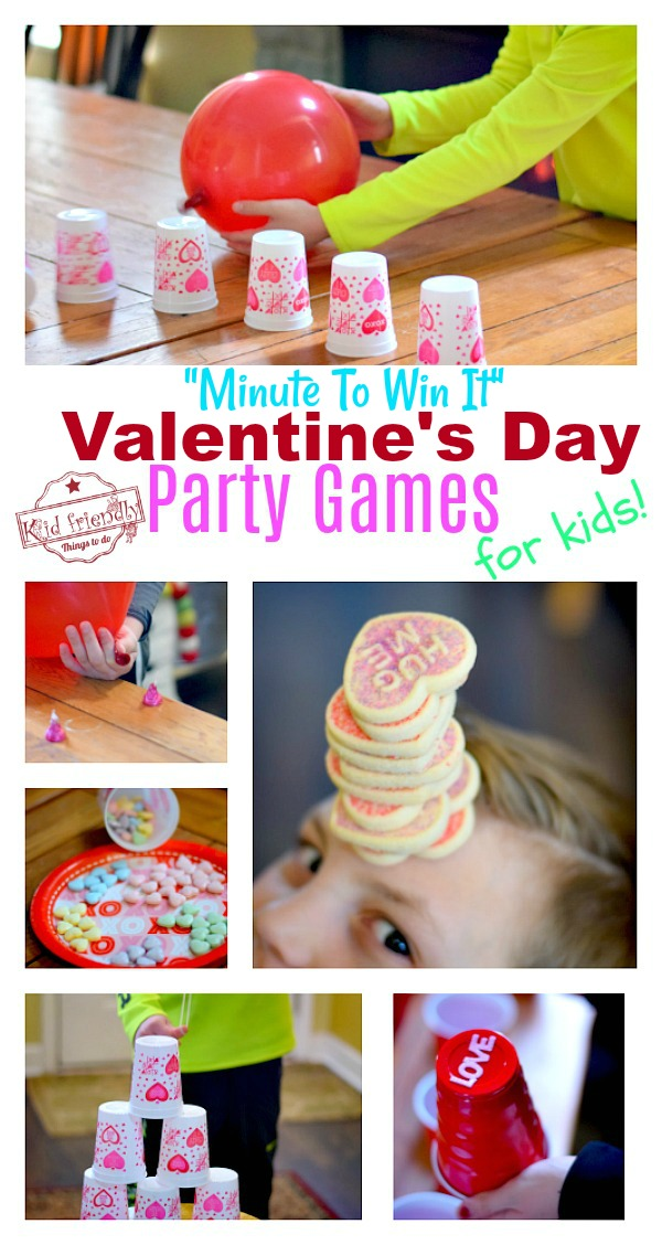 Minute To Win It Valentine's Day Games to Play at School