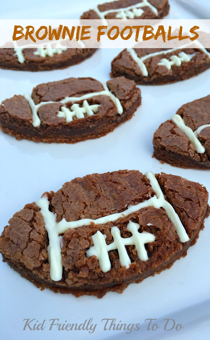Easy Football Shaped Brownie Recipe