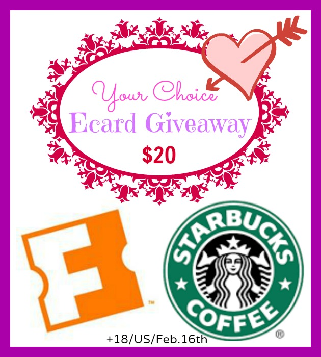 Your Choice - $20 Fandango or Starbucks Giveaway