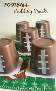 Easy Football Pudding Cup Fun Food Craft