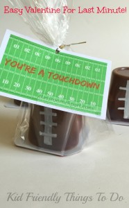 You're A Touchdown! Last Minute Valentine Idea