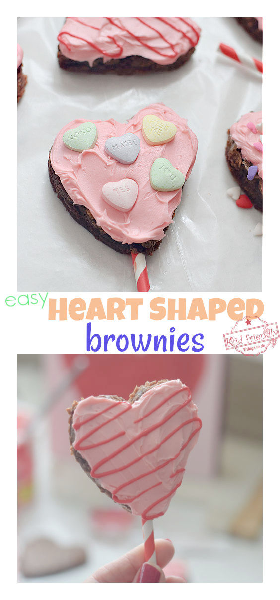 Valentine's Day brownie pops