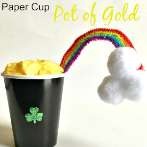 Make A Paper Cup Pot of Gold Craft For St. Patrick's Day