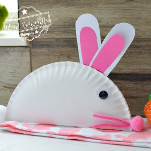 Easy Paper Plate Bunny Craft for Kids | Kid Friendly Things To Do