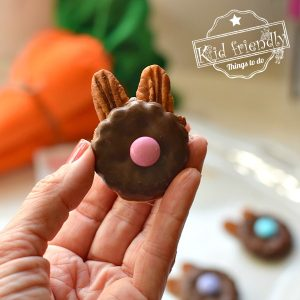 Bunny Shaped Turtle Cookies for an Easy Easter Treat {Made with Rolo Candy} | Kid Friendly Things To Do