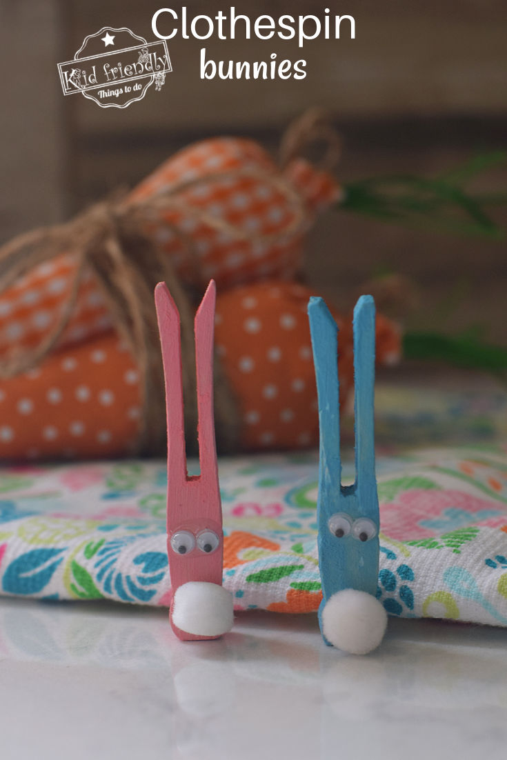 Clothespin Bunny Craft for kids