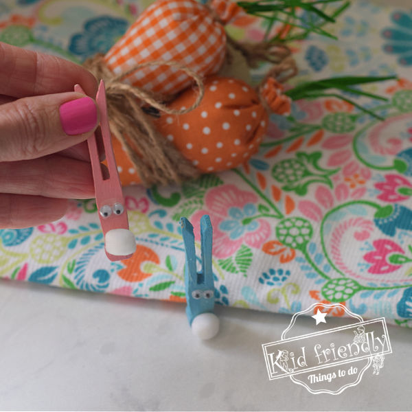 An Easy to Make Clothespin Bunny Craft for Kids | Kid Friendly Things To Do
