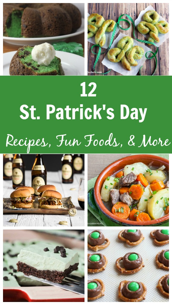 St. Patrick's Day Recipes, Fun Food and More Round Up - KidFriendlyThingsToDo.com