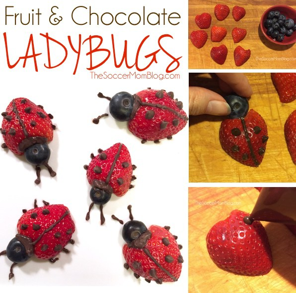 How To Make Chocolate Covered Strawberry Ladybugs