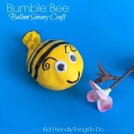 A Bumble Bee Balloon Fidget Sensory Craft For Kids