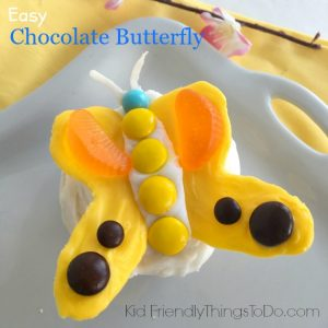 Making Simple Chocolate Butterflies for a Fun Spring Cupcake