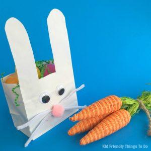 Paper Bag Bunny Easter Basket Craft For Kids