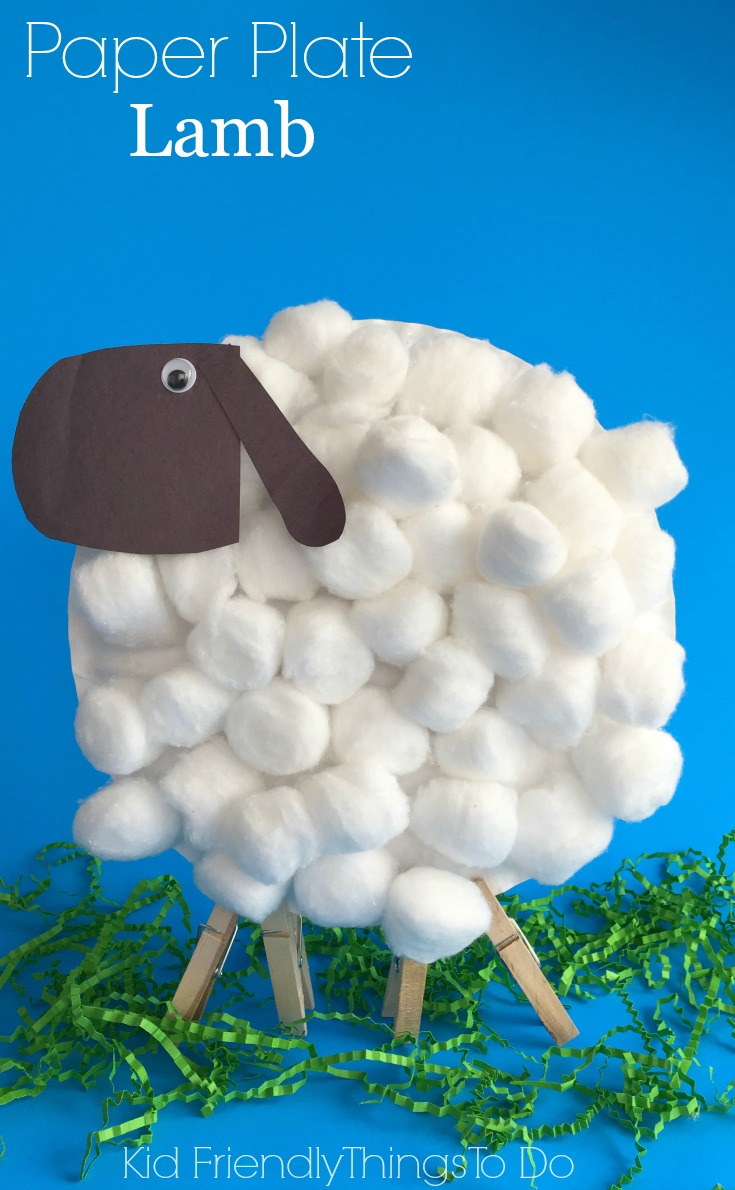 Easy paper plate lamb craft for kids kid friendly things for Easy things to make out of paper for kids