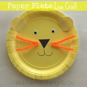 Easy to Make A Lion Paper Plate Craft for Kids