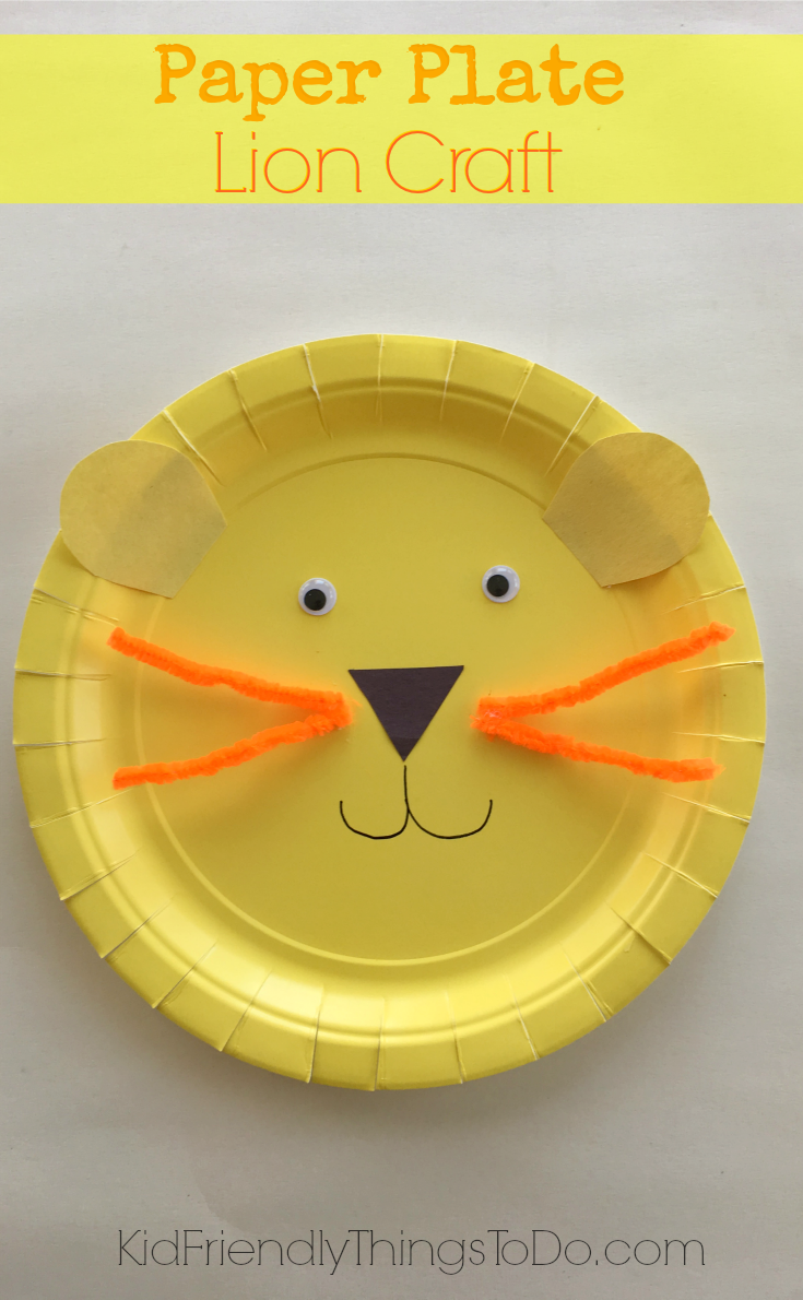 Simple fun to make and so adorable Lion Paper Plate craft for kids - & Easy to Make A Lion Paper Plate Craft for Kids