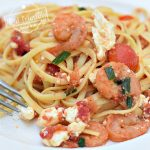 Shrimp Pasta with Tomato and Feta Recipe