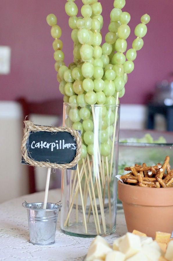 caterpillar sticks - for a garden party