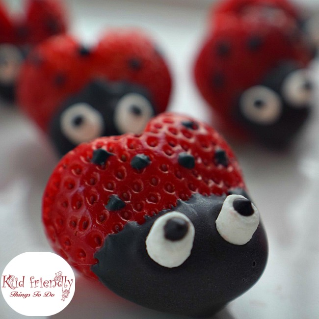 ladybug shaped strawberries