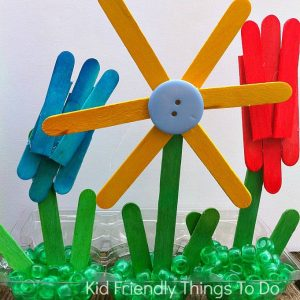A Popsicle Stick Craft: Making A Garden of Flowers