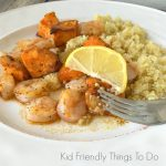 Shrimp & Sweet Potato Skewers Recipe - A delicious and easy recipe for the grill. Great family meal. KidFriendlyThingsToDo.com