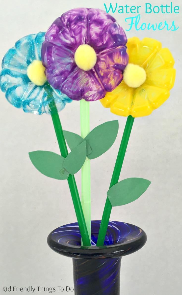 water bottle flowers craft for kids kid friendly things