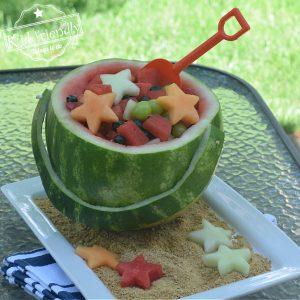 pail and shovel watermelon fruit bowl fruit salad