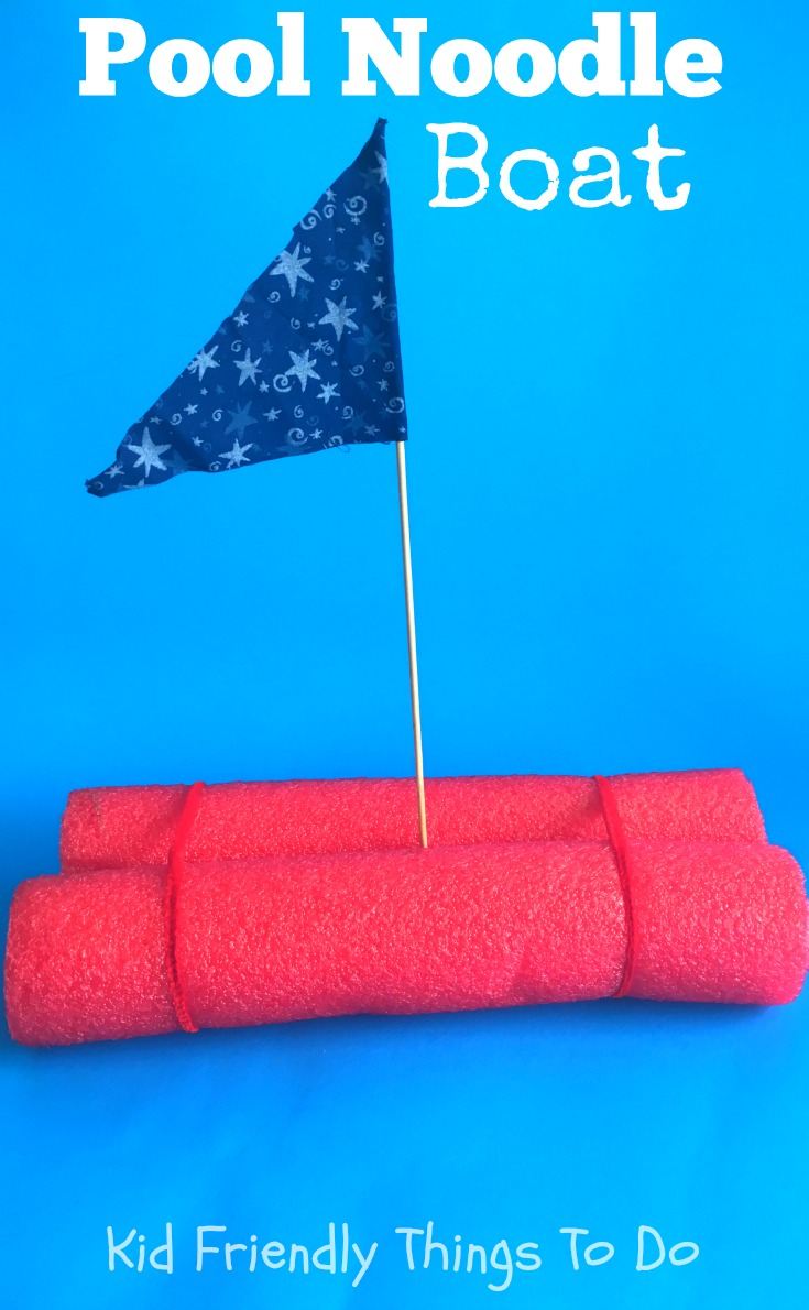 Fun And Simple Pool Noodle Boat Craft For Kids