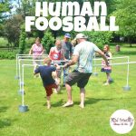 DIY Human Foosball Game for Family Fun - The best! Make with PVC pipes  you can take apart & store for backyard fun when you want it! KidFriendlyThingsToDo.com